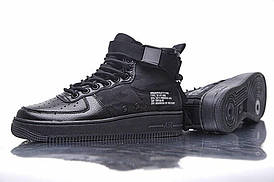 Женские кроссовкиNike SF Air Force 1 Utility Mid All Black