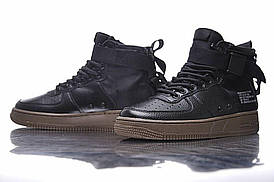 Женские кроссовки Nike SF Air Force 1 Utility Mid Black/Grey
