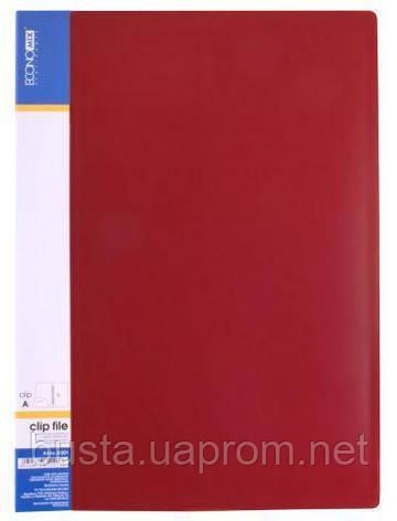 Папка-скоросшиватель красная клип А Economix, фото 2