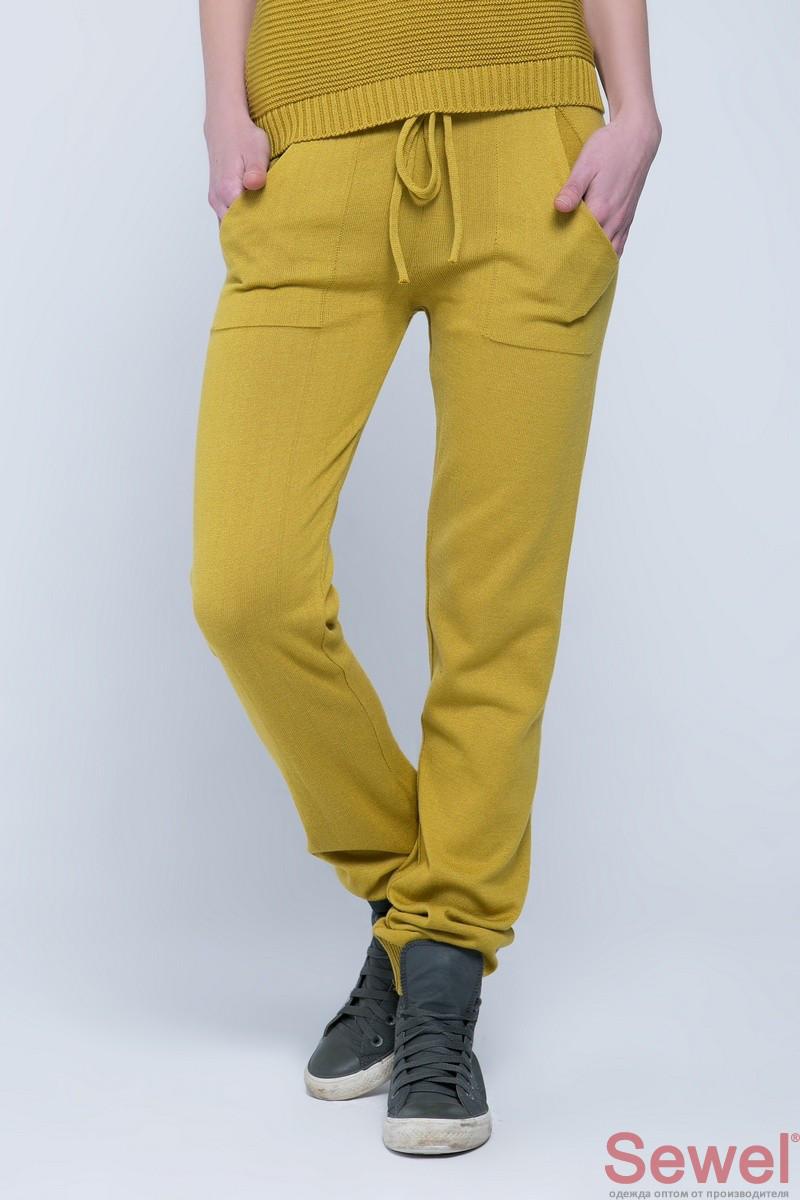 Женские желтые спортивные штаны домашние штаны