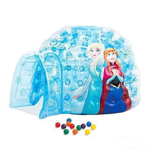 Детский надувной домик Intex 48670 «Холодное сердце», 185 х 157 х 107 см, с шариками 12 шт
