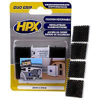 DUO GRIP - самоклеющаяся лента-застежка HPX, подушечки 25мм x 25мм - 4шт, фото 1