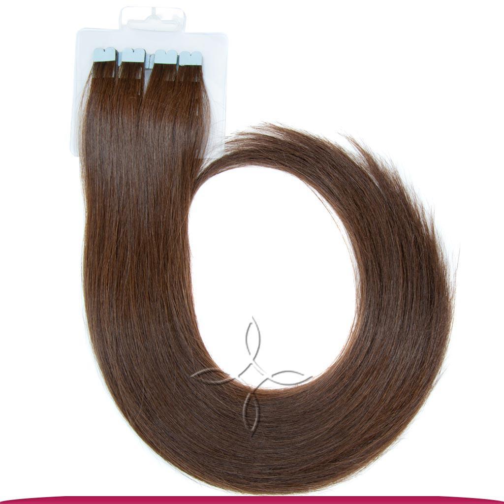 Натуральные Славянские Волосы на Микро-Лентах 50 см 100 грамм, Шоколад №03