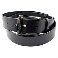 Мужской кожаный ремень RMU-023B (черный) (4 см)