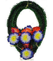 """Ритуальный венок """"Капля"""", цветок с бусинкой (6 лепестков)"""