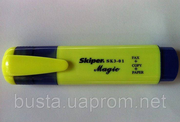 Текстмаркер Magic флуоресцентный жёлтый