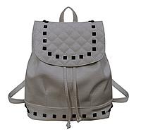 Рюкзак серый женский код 3-293