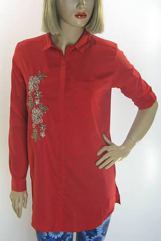 Жіноча туніка-сорочка вишита бісером  SALOON, фото 2