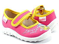 Яркие детские тапочки WALDI для девочки( р21-27)