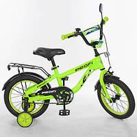 """Детский двухколесный велосипед PROFI Space 14"""" Салатовый (T14153)"""