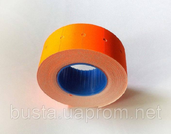 Ценники 21,4 на 12мм оранжевые 600 шт