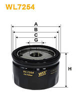 Фильтр масляный LOGAN, RENAULT WL7254/OP643/3 (производство WIX-Filtron)