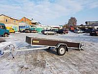 Прицеп снегоходный 3,3м х 1,4м ручной самосвал.