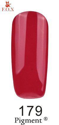 Гель-лак F.O.X 179 Pigment малиново-красный, 6 ml, фото 2