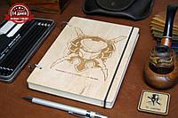 Скетчбук A5. Блокнот с деревянной обложкой Хищник, фото 1