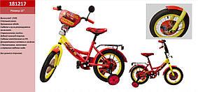 "Велосипед 2-х колес 12"" 181217 (1шт) со звонком, зеркалом,без ручного тормоза"