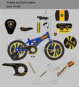 "Велосипед 2-х колес 12"" 181246 (1шт) со звонком, зеркалом,без ручного тормоза"