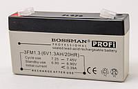 Аккумулятор 6V 1.3Ah Bossman profi  3FM1.3 - LA613