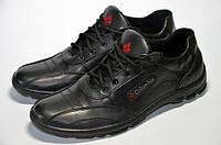 Мужские кожаные кроссовки (ботинки демисезонные) Columbia черные
