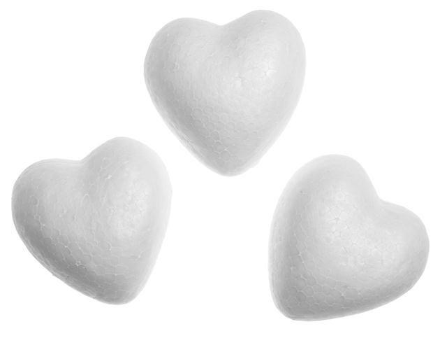 Заготовка для декорирования пенопласт Сердца 6*3см Dalprint набор 5шт. 279800706