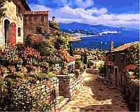 Картина раскраска по номерам на холсте 40*50см Babylon VP268 Тосса дель Мар, Испания