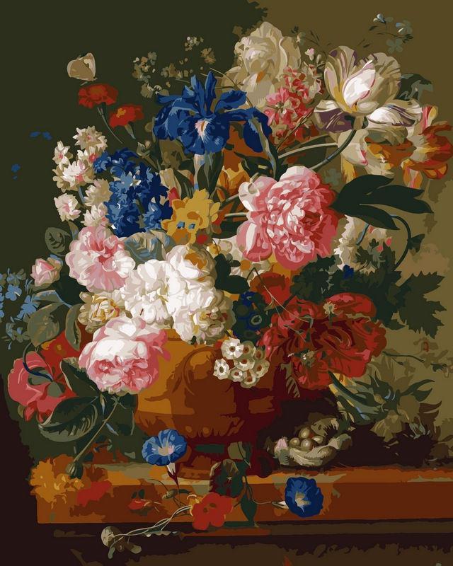 Картина раскраска по номерам на холсте 40*50см Babylon VP092 Натюрморт с цветами