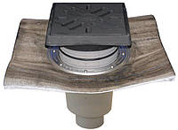 HL616.1H/1 Дворовый трап Perfekt DN110 вер. с битумом, чугун с морозоустойчивой запахозапирающей заслонкой