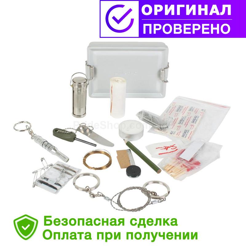 Набор для выживания Mil Tec SURVIVAL KIT ALU BOX (16027100)