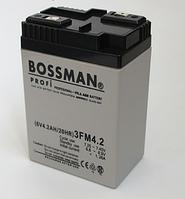 Аккумулятор 6V 4.2Ah Bossman profi  3FM4.2 - LA642