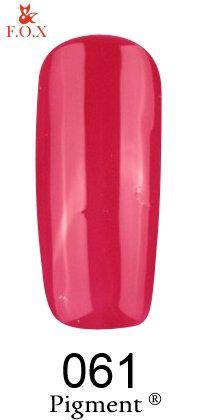 Гель-лак F.O.X 061 Pigment  красный, 6 ml, фото 2