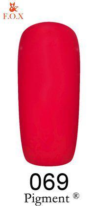 Гель-лак F.O.X 069 Pigment красный, 6 ml