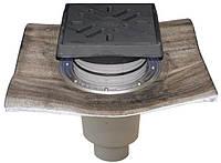 HL616.1H/5 Дворовый трап Perfekt DN160 верт. с битумом, чугун с морозоустойчивой запахозапирающей заслонкой
