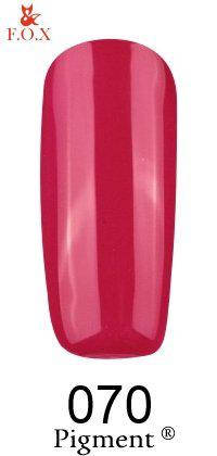 Гель-лак F.O.X 070 Pigment малиново-вишневый,  6 ml, фото 2