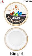 Прозрачный био-гель F.O.X Bio gel 3 in 1 Base/Top/Builder 15 мл