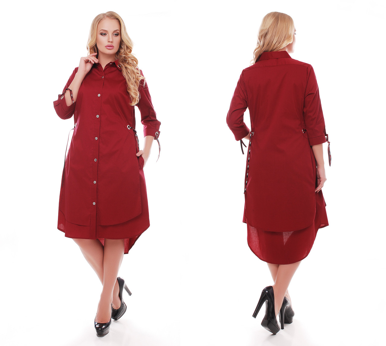 Платье женское Евгения бордо