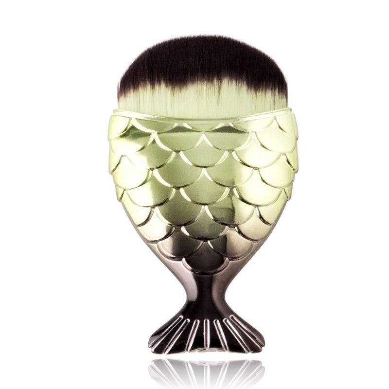 Кисть для макияжа Рыбка Fish Tail Brush зелёная