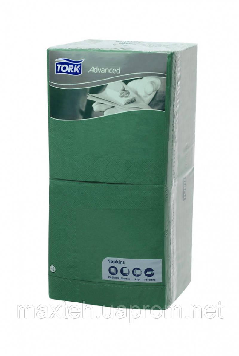 Салфетки Торк Professional 33х33 трехслойные 250 листов зеленые