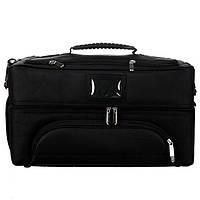 Большая сумка - кейс для визажистов, косметолога и мастеров маникюра, черный тканевый