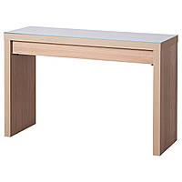 IKEA MALM Туалетный столик, дубовый шпон, окрашенный в белый цвет  (004.075.75)