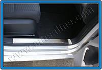 Нержавеющие накладки на внутреннюю часть порога на VW Golf 6 (2 шт)