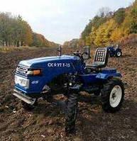 Трактор Garden Scout T15, (15 л.с.) + почвофреза + плуг