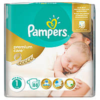 PAMPERS Premium Care 1 Newborn 2-5кг 88 шт