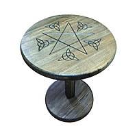 Алтарный столик круглый высокий