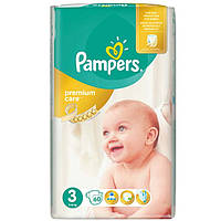 PAMPERS Premium Care 3 Midi 4-9кг 60шт.