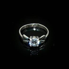 Серебряное кольцо с камнем Бантик, фото 2