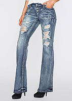 Батальные джинсы рваные Rainbow, фото 1