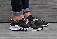 Мужские босоножки Adidas Equipment черные 43 44р. Топ Реплика Хорошего качества