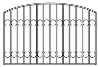 Забор металлический с элементами ковки | Заборы с элементами ковки из металла купить | Цена от производителя
