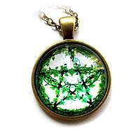 Кулон Зелёная Пентаграмма