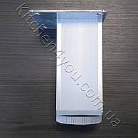 Ножка мебельная квадратная 100 мм. 45х45 алюминий, фото 1